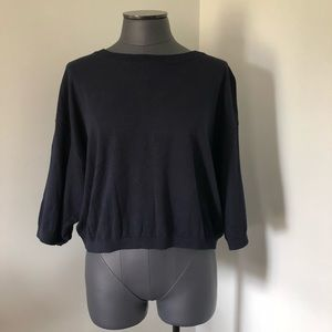 GAP Navy Blue Cropped Sweater Size Large NWT